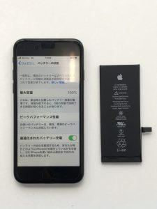 iPhone7 バッテリー交換 宇都宮